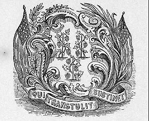 Arms on 1889 Gubernatorial Proclamation