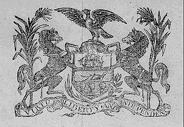Arms of Pennsylvania from a 1780 gubernatorial proclamation Source: Library of Congress