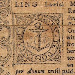 Rhode Island one shilling note, 1775