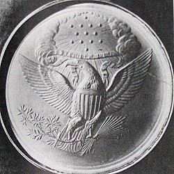 Impression of 1825 Treaty Seal Die Source: The Eagle and the Shield