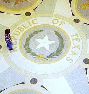 Republic of Texas Seal State Capitol Rotunda