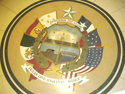 Reverse of the Texas State Seal State Capitol Extension