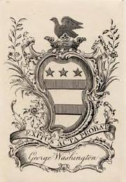 Bookplate of George Washington, 1772  Source: Library of Congress