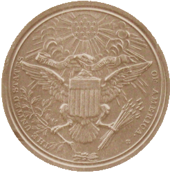 U.S. Diplomatic Medal by Augustin Dupré, 1792 Source:  The Eagle and the Shield