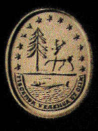 Seal designed by John Adams, 1783,  as modified 1816  Source: