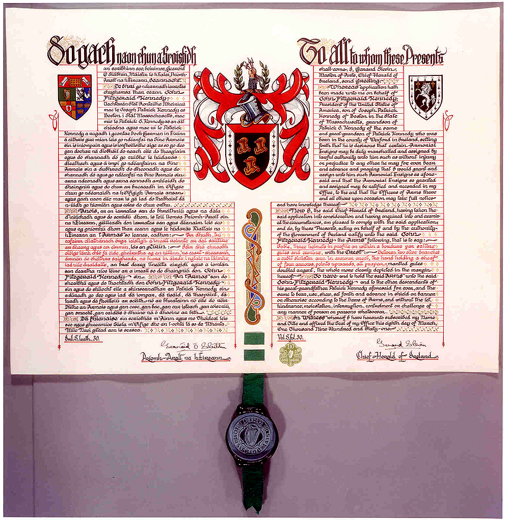 Click on image to enlarge  picture of letters patent  Courtesy of Sebastian Nelson and David Rodearmel