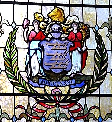 State Arms in Stained Glass, New Jersey State Capitol, Trenton