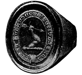 Seal ring attributed to James Taylor (d. 1698) Source: Old Louisiana Plantation Homes
